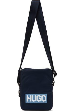 HUGO BOSS Navy Nylon Reporter Bag