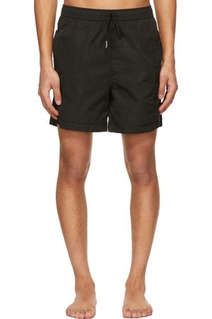 Moncler Black Nylon Boxer Mare Swim Shorts