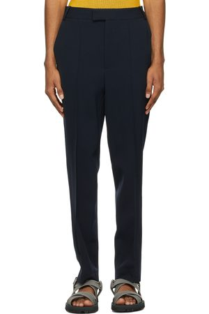 Situationist Navy Wool Classic Trousers