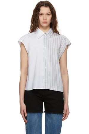 MM6 MAISON MARGIELA White Paneled Stripe Shirt
