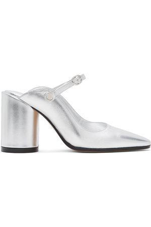 MM6 MAISON MARGIELA Silver Mary Jane Slip-On Heels