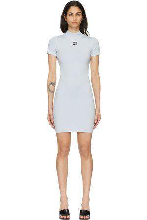 Alexander Wang Blue Logo Patch Bodycon Dress