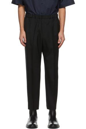 Jil Sander Black Wool Cropped Trousers