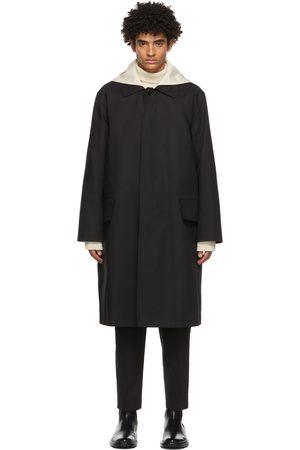 Jil Sander Black Detachable Collar Sport Trench Coat