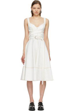 Alexander McQueen Off-White Denim '50s Dress
