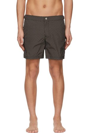 Alexander McQueen Black & Brown Skull Dots Swim Shorts