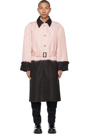 Alexander McQueen Pink & Black Printed Dip-Dye Trench Coat