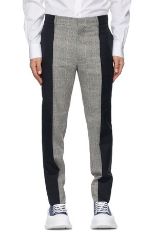 Alexander McQueen Grey & Black Wool Paneled Trousers