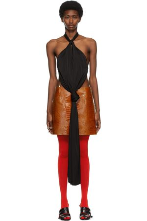 Givenchy Black Open Back Knotted Halter Top