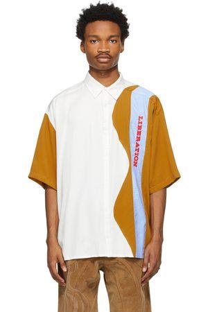Ahluwalia White & Tan 'Liberation' Short Sleeve Shirt
