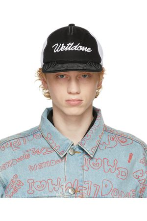 We11 Done & White Big Logo Embroidered Cap