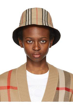 Burberry Reversible Beige Icon Stripe Bucket Hat