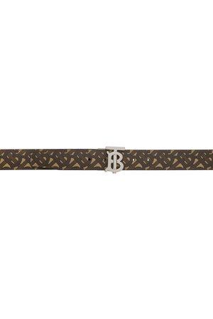 Burberry Reversible Brown E-Canvas Monogram TB Belt