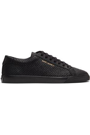 Saint Laurent Black Python Andy Sneakers