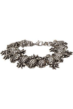 Saint Laurent Silver Pineapple Link Bracelet