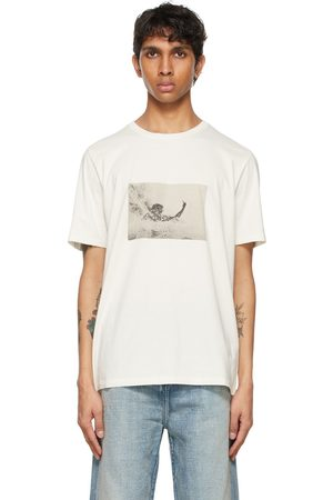 Saint Laurent Off-White Wave Surfer T-Shirt