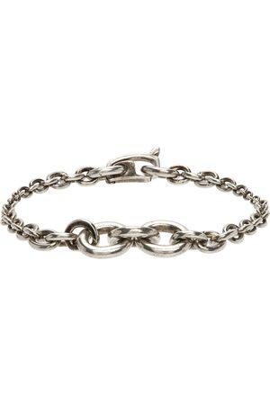 Saint Laurent Silver Mini Graduated Chain Bracelet