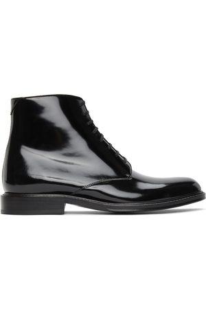 Saint Laurent Black Army Lace-Up Boots