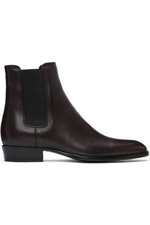 Saint Laurent Brown Wyatt Chelsea Boots