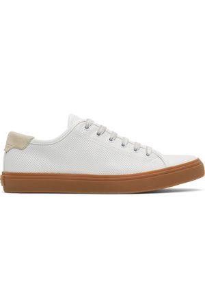 Saint Laurent White Larry Low-Top Sneakers