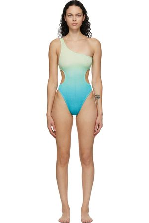 BOUND by bond-eye Green & Blue 'The Milan' One-Piece Swimsuit