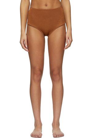 Calle Del Mar Orange Knit Panty Bikini Bottom