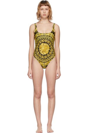 VERSACE Gold Barocco One-Piece Swimsuit