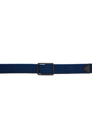 Bottega Veneta Black & Blue Woven Belt