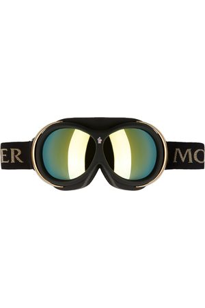 Moncler Black & Gold Mirror Ski Goggles