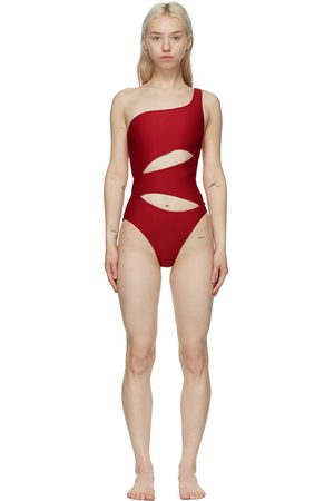 Solid Red 'The Louise' One-Piece