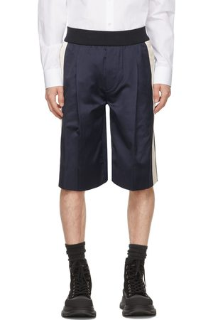 Alexander McQueen Navy Satin Shorts