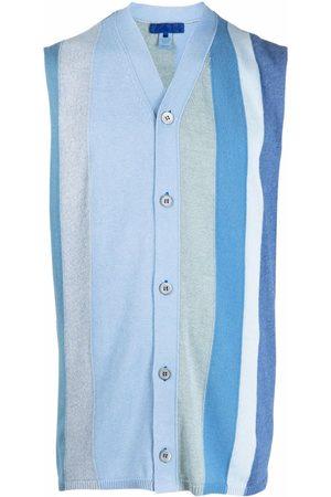Comme Des Garçons Shirt Uomo Cardigan - Maglione smanicato a righe