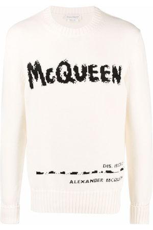 Alexander McQueen Maglione con intarsio Graffiti - Toni neutri