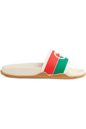 Gucci Sandali slides con dettaglio web
