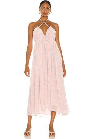 Tularosa Lee Maxi Dress in - Mauve. Size L (also in XXS, XS, S, M, XL).