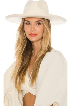 Lack of Color Melodic Fedora in - White. Size L (also in S, M).