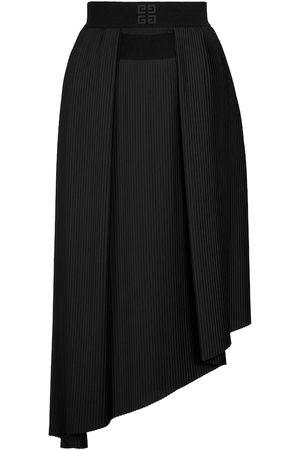 Givenchy Donna Gonne midi - Gonna midi asimmetrica plissé
