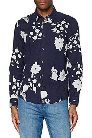 FIND Marchio Amazon - - Floral Printed, Camicie Uomo, , S, Label: S