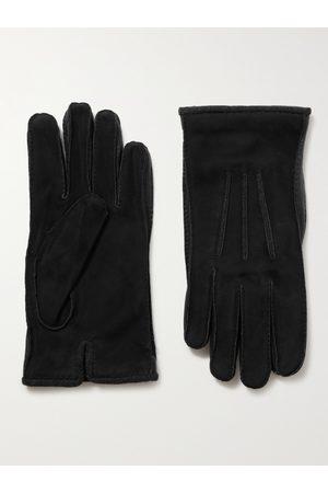 Loro Piana Uomo Guanti - Damon Baby Cashmere-Lined Suede Gloves