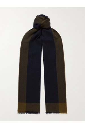 Loro Piana Uomo Sciarpe - Fringed Checked Brushed-Cashmere Scarf