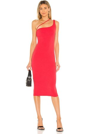 h:ours Niall Midi Dress in - Red. Size L (also in XXS, XS, S, M, XL).