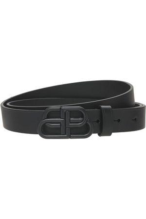 Balenciaga Cintura In Pelle Con Fibbia Bb