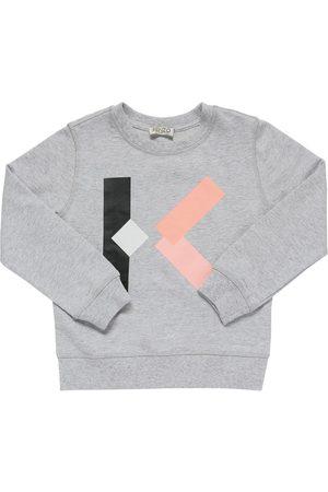 Kenzo Felpa In Cotone Con Stampa Logo