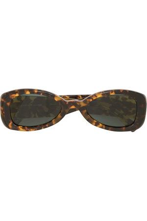 Linda Farrow Uomo Occhiali da sole - Tortoiseshell-effect oval-frame sunglasses