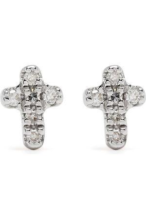 DJULA Orecchini Cross in 18kt con diamanti