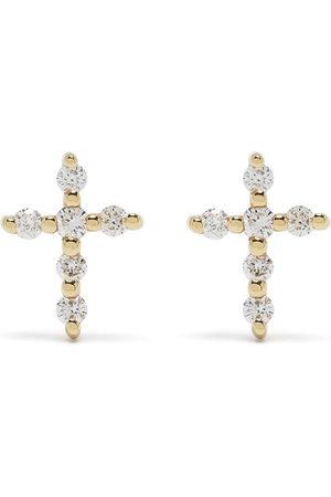 Djula Uomo Orecchini - Orecchini Big Cross in 18kt con diamanti