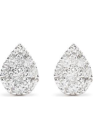 Djula Orecchini Pear in oro bianco 18kt con diamanti