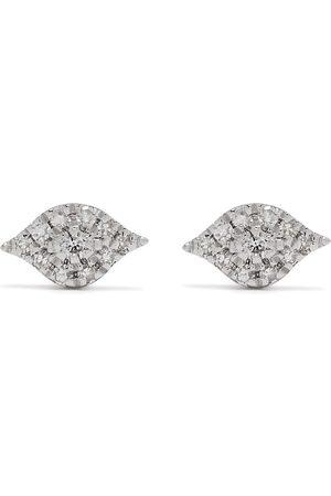 DJULA Uomo Orecchini - Orecchini Eyes in oro bianco 18kt con diamanti