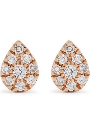 DJULA Uomo Orecchini - Orecchini Pear in oro 18kt con diamanti