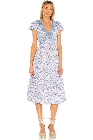 LOVESHACKFANCY Minuet Dress in - Lavender. Size 0 (also in 2, 4, 6, 8, 10).